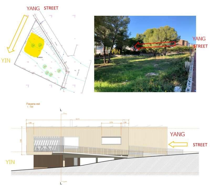 Yin and Yang house location in a plot/espaciobiodinamico.com